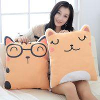 卡通猫咪抱枕 胖嘟嘟猫咪背靠枕 看电视上班学生通用可爱抱枕