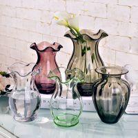 迷你透明小插花玻璃花屏 约家居客厅摆件水培可爱插花瓶