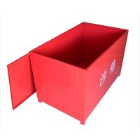 沙箱 消防沙箱 红色铁板加厚 脚踏式沙箱 带轮沙箱 灭火沙箱
