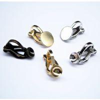 供应无耳洞粘珍珠/平头耳环软垫三角耳夹耳环多色DIY手工配件