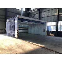 山东优质大型伸缩式喷漆房厂家定做中博制造厂家直销