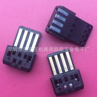 POS机专用充电母座/电池座/全塑USB母座/4PIN焊线式/麻点接触焊盘