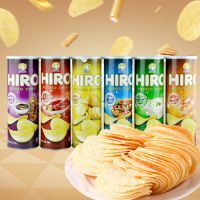 马来西亚进口膨化食品 一皇hiro香脆薯片多口味160g 休闲零食批发