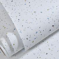 自贴现代简约素色白色繁星无纺布墙纸客厅卧室小孩房寝室宿舍墙纸