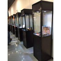 东莞拍卖会展示柜租赁-独立展示柜出租-黑色展示柜出租工厂
