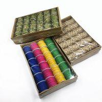 彩色麻绳套装 带叶捆绑绳装饰品线diy细粗手工编织麻线彩色材料