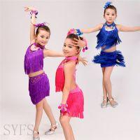 儿童舞蹈演出服女童拉丁舞表演服少儿练功考级比赛服装幼儿舞蹈服