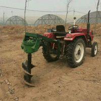 四轮带动的挖坑机怎么安装 花园修剪专用打坑机