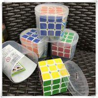 儿童益智玩具顺滑三阶魔方学生比赛专用魔方地摊创意桶装智力魔方
