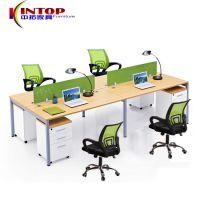 佛山热销办公家具 职员办公桌电脑桌 4人位屏风办公桌员工桌椅