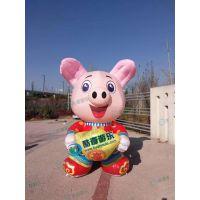 金猪气模 5米8米10M卡通气模充气猪年商场售楼部促销展品