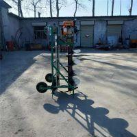 富兴多功能螺旋式挖土机 四轮悬挂式打坑机 双人植树刨坑机视频