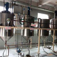 牡丹籽油精炼设备 小型食用油厂生产线 志乾 精炼油成套设备