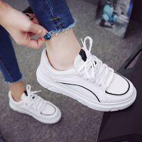 塑胶小白休闲底夏季秋学生休闲鞋平底单鞋运动鞋鞋女鞋女式板鞋