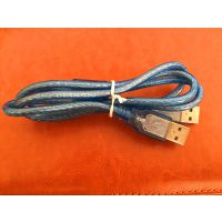 机顶盒刷机USB2.0公对公双头数据线USB公头电脑硬盘连接线散热器