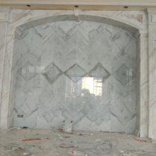 专业设计天然大理石背景墙厂家