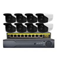 1080P网络监控设备POE套装摄像头 红外防水摄像机网络摄像头套装