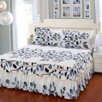 JSH欧式防滑单件三件套纯棉床罩床裙式床笠床套款1.8  2.0米床上
