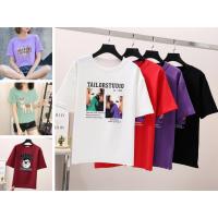 广州尾货服装批发几元T恤工厂亏本清货女士短袖库存服装批发