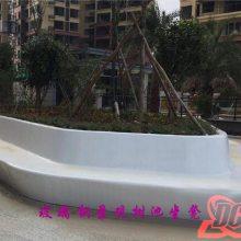 河南德辰定制 玻璃钢树池坐凳 异形花池坐凳座椅 接受来图定制