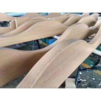 咸阳图书馆室内2.0厚木纹弧形铝单板吊顶造型材料供应商 广东欧百建材
