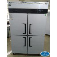 深圳四门厨房冷柜 双温冷藏冷冻高身柜价格 商用立式冰箱厂家批发