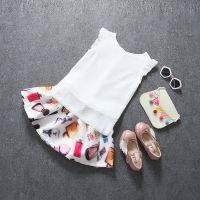 2018外贸新品女童儿童T恤短裙半裙两件套厂家直销速卖通一件代发