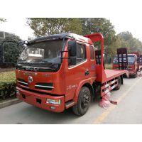 优质-东风多利卡平板运输车价格 单桥挖机拖车批发 装载机平板车