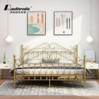 工厂批发简约优雅设计卧室双人金属公主床