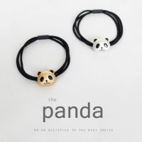 卡通可爱双层皮圈 日韩扎头发熊猫动物发圈 合金2元义乌饰品批发