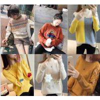 便宜尾货毛衣杂款韩版时尚地摊毛衣便宜女装上衣圆领打底衫加厚毛衣