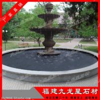 石雕水钵 园林景观 喷水池 惠安石雕流水摆件