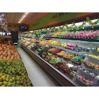 郑州水果店专用保鲜柜不锈钢材质喷雾风幕柜厂家直销