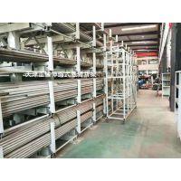 福建金属制品行业仓储货架 伸缩式悬臂货架近期案例 钢管存放架