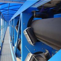 圆管带式输送机输送各种松散物料 高效