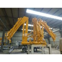 转臂式小吊机生产厂家 360度旋转折臂吊 可以安装到货箱里面