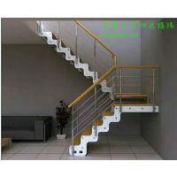 双梁钢木楼梯-乌鲁木齐怡达楼梯
