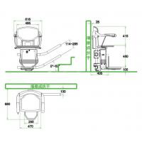 三明市 固定家用电梯 楼梯电梯厂家现场测量智能斜挂式升降椅 启运直销蚌埠市