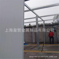 专业搭建彩钢板活动板房车间隔墙防火岩棉隔断夹芯板平房围墙隔间