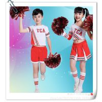 儿童啦啦操演出服男女拉拉队服小学生舞蹈表演服新款演出服