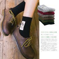 17新品韩国秋冬羊毛袜加厚 日系复古订标猫咪保暖女袜子 堆堆袜女