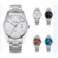 男士品质手表石英表双日历腕表时尚蓝宝石商务男表钢带防水厂定制