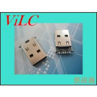 立式插件3.0USB公头-9P贴片90度USB公座-带定位柱