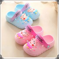 夏季新款可爱儿童居家洞洞花园鞋 中小童卡通小猪佩奇男女童凉鞋