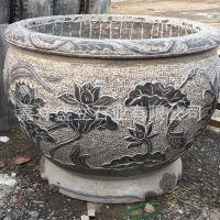 厂家销售定做青石仿古鱼缸 庭院园林圆形石缸