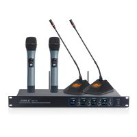 狮乐无线麦克风狮乐一拖四SH15会议培训演出家用K歌话筒KTV扩音器套装厂家