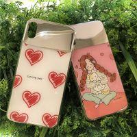 网红美妆镜手机壳 适用苹果iphone XR 华为P30女款镜面彩绘手机壳