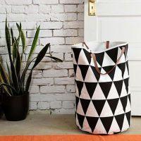 欧美INS 速卖通儿童家居半月网格三角形可站立帆布玩具手提收纳袋