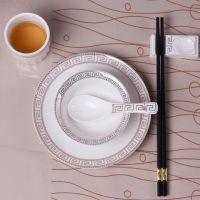 饭店酒店摆台餐具套装日式家用碗碟三四五件套餐厅陶瓷碗盘子