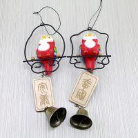 厂家新款热销欢乐精灵苍梧鸟风铃 创意家居装饰挂件工艺品礼物